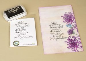 Creating a Faux-Canvas | Featuring Impression Obsession, Heartfelt Creations and Clearsnap | Designed by Cathie Allan | Creative Scrapbooker Magazine