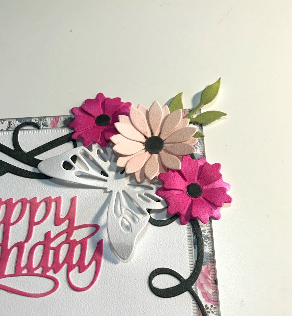 Happy Birthday card designed by Katelyn Grosart featuring Elizabeth Craft Designs and Ranger | Creative Scrapbooker Magazine