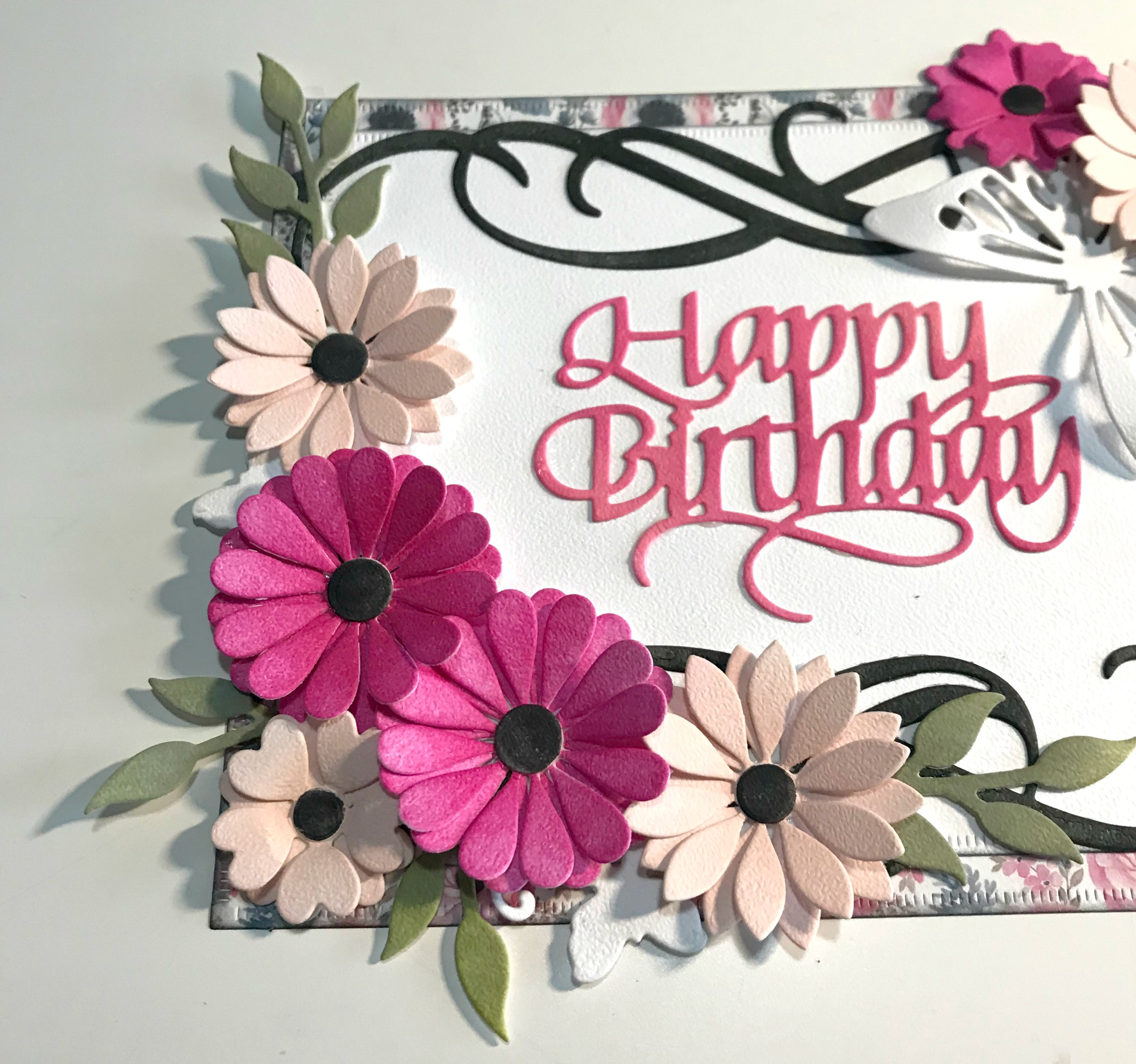 Happy Birthday Card Designed By Katelyn Grosart Featuring Elizabeth Craft Designs And Ranger
