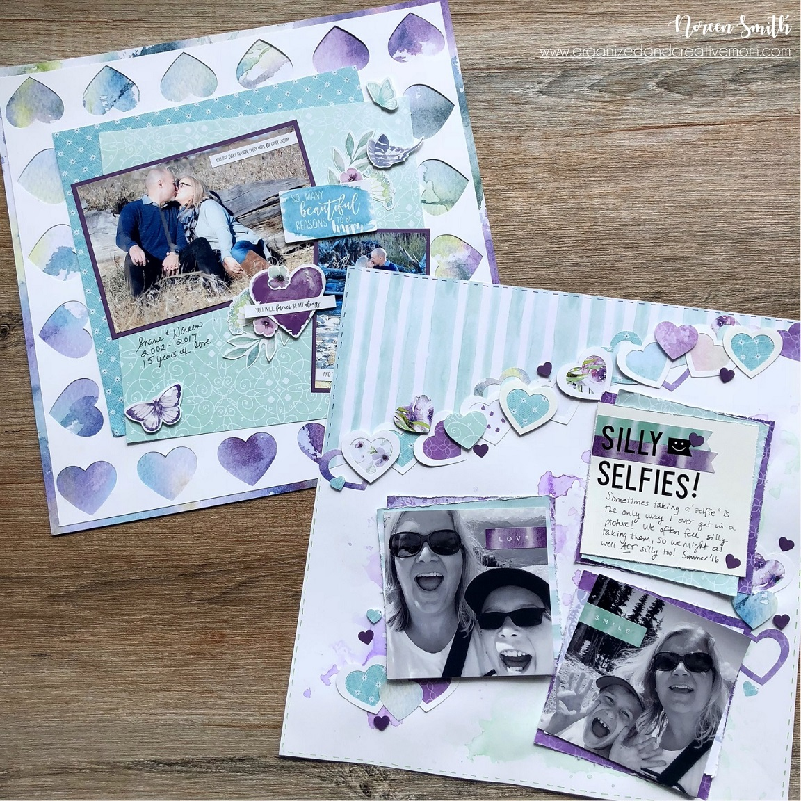 Layout designed by Noreen Smith featuring the Creative Memories Secret Garden Collection | Creative Scrapbooker Magazine