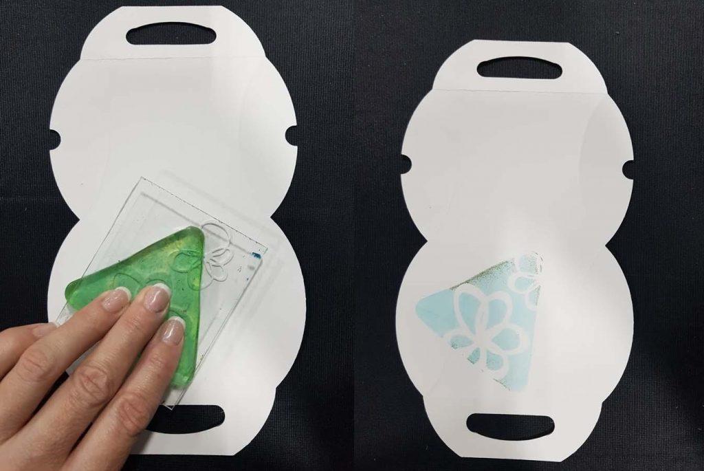 Pillowbox Gift Box designed by Karen Ellis featuring Elizabeth Craft Designs dies, Clearsnap ink and Gel Press Printing Plate