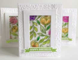 Card designed by Kerry Engel featuring Therm O Web product | Creative Scrapbooker Magazine