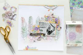 Scrapbook layout featuring the Bliss Collection by Simple Stories Designed by Nathalie DeSousa | Creative Scrapbooker Magazine