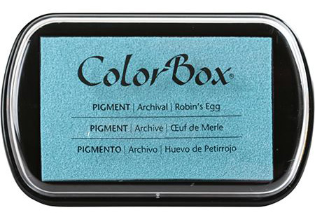Clearsnap ColorBox Robin's Egg Blue Pigment Ink | Creative Scrapbooker Magazine