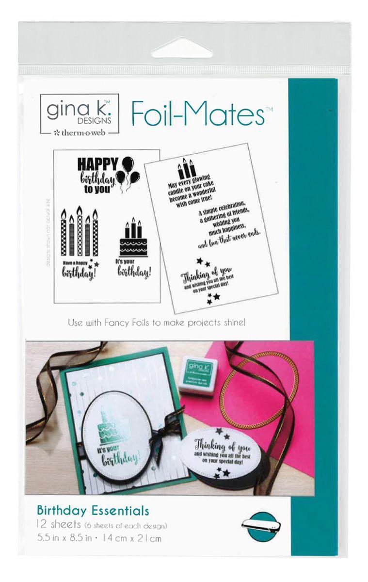 Gina K. Designs Birthday Essentails Foil Mates | Creative Scrapbooker Magazine