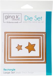 Gina K. Designs Nested Rectangles die set | Creative Scrapbooker Magazine