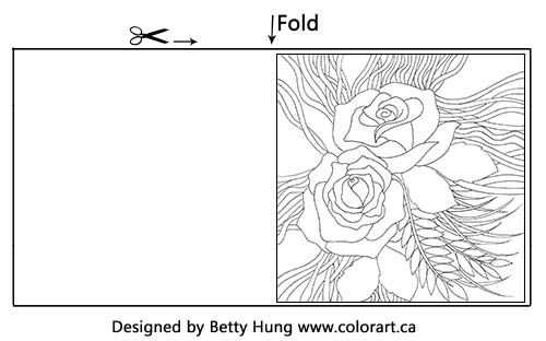 Spring Flowers Coloring Card Designed by Betty Hung | Creative Scrapbooker Magazine