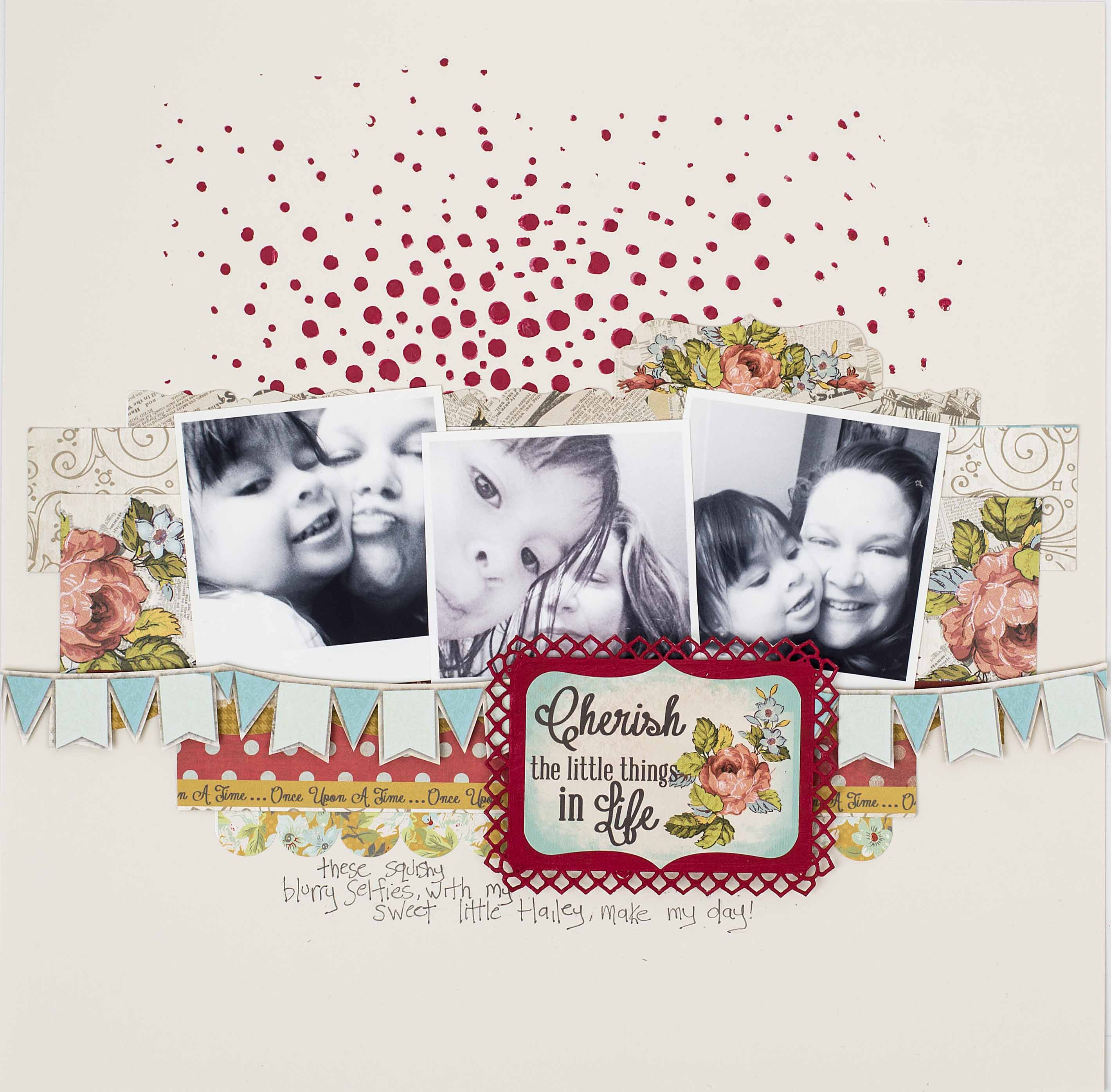 Scrapbook Layout Designed by Christy Riopel | Creative Scrapbooker Magazine