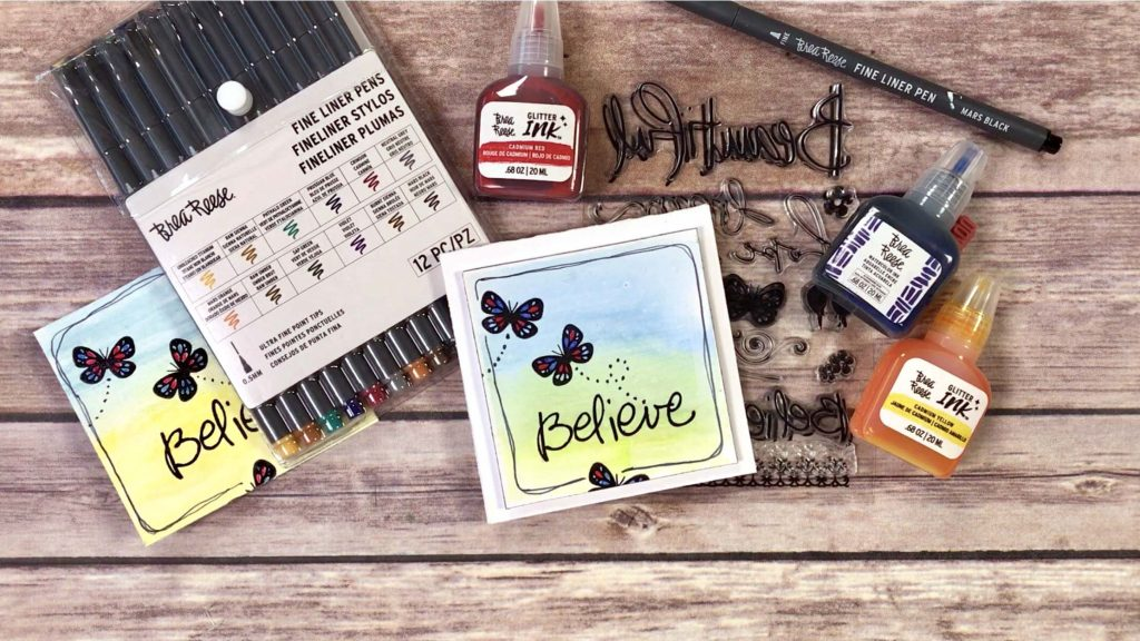 Watercolor Backgrounds for cards featuring Brea Reese | Creative Scrapbooker Magazine