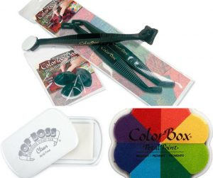 Clearsnap ColorBox stylus, white foam tips, Top Boss embossing ink and pigment ink