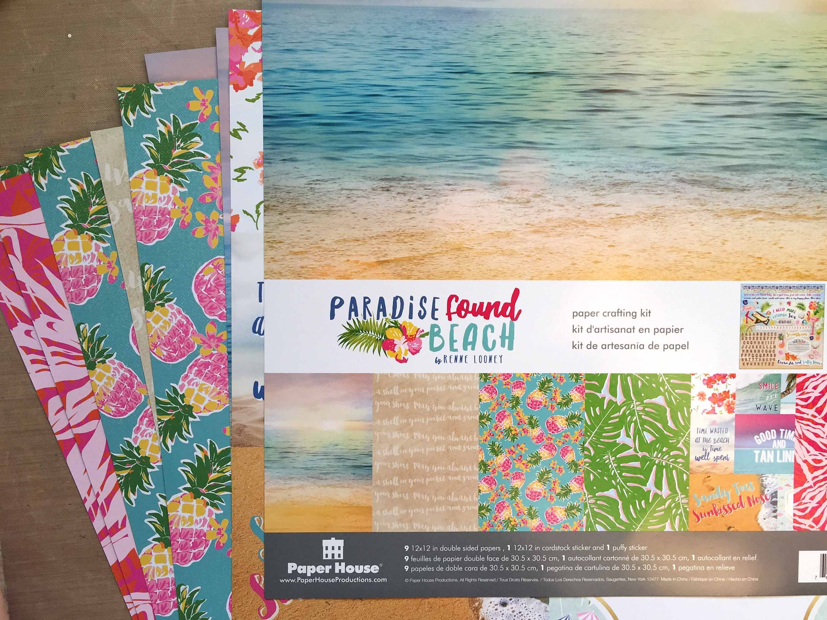 Paper House Productions Paradise Found Beach Collection | Creative Scrapbooker Magazine