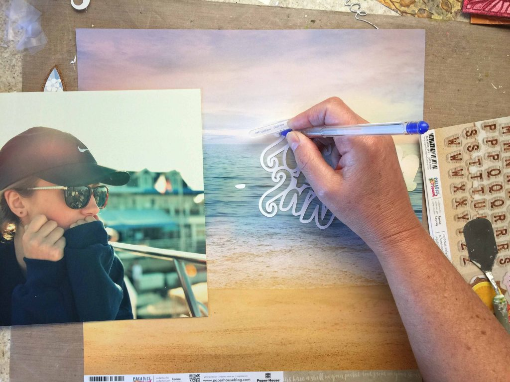 Scrapbook Layout Designed by Kerry Engel Featuring Paper House Productions Paradise Found Beach Collection | Creative Scrapbooker Magazine