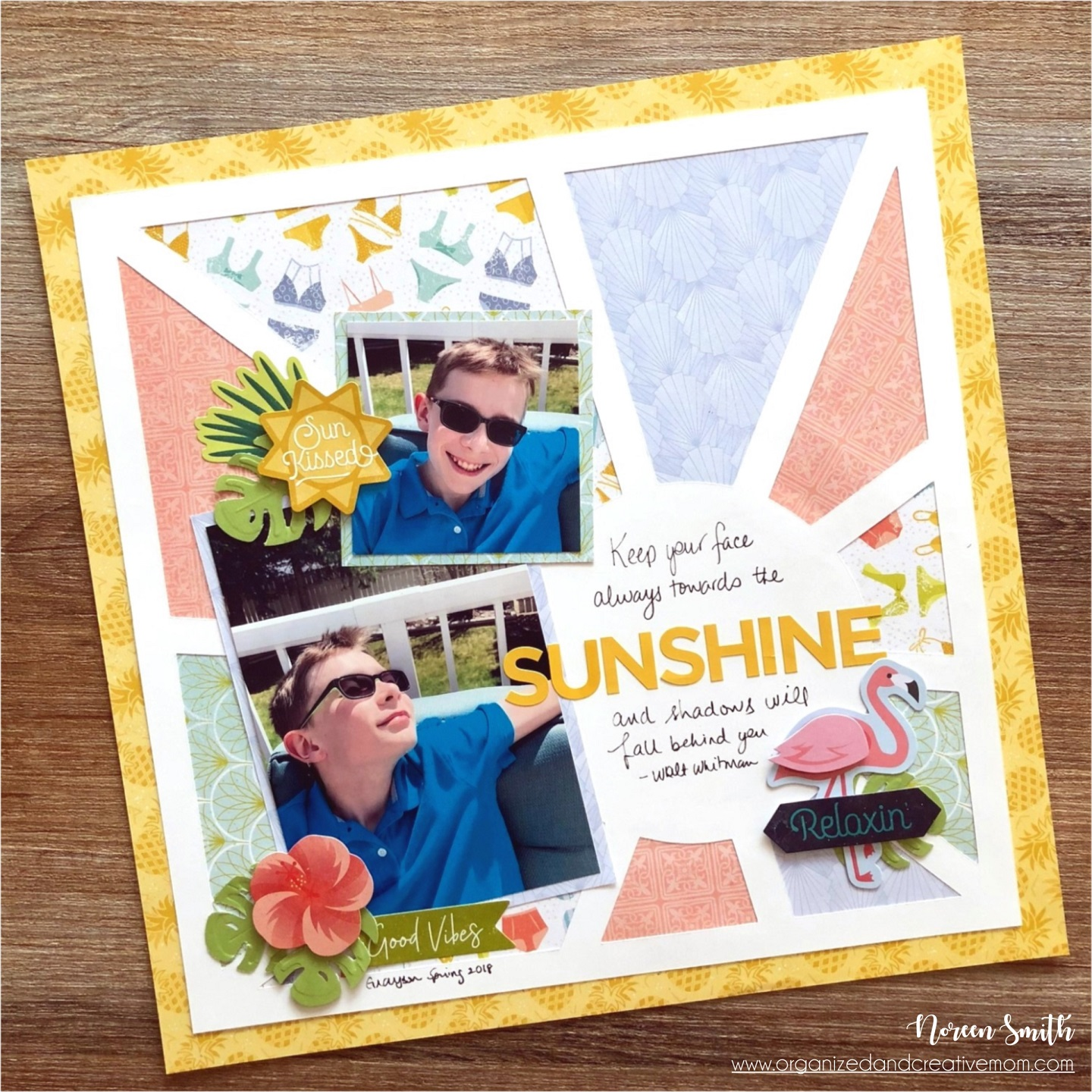 Scrapbook Layout featuring Sun-Kissed Collection by Creative Memories Designed by Noreen Smith | Creative Scrapbooker Magazine