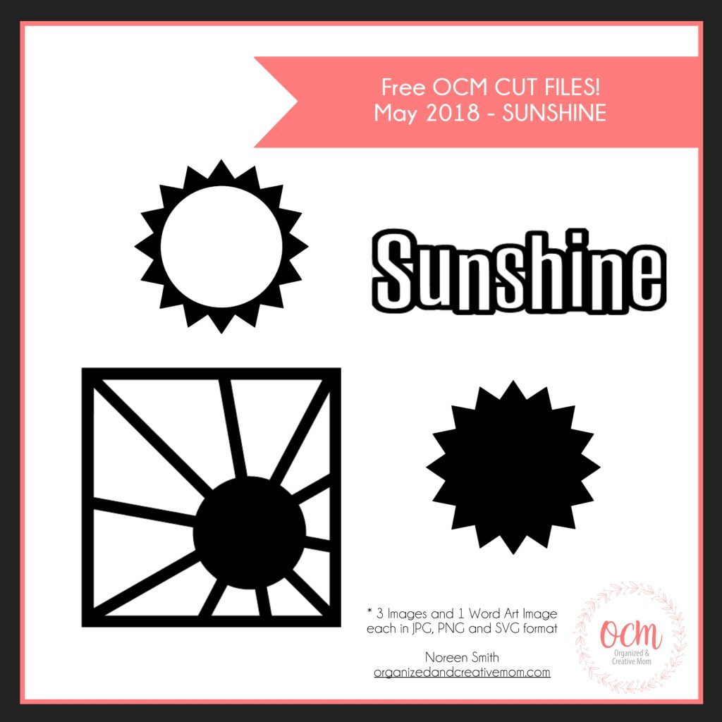 Sunshine Free Cut File designed by Noreen Smith