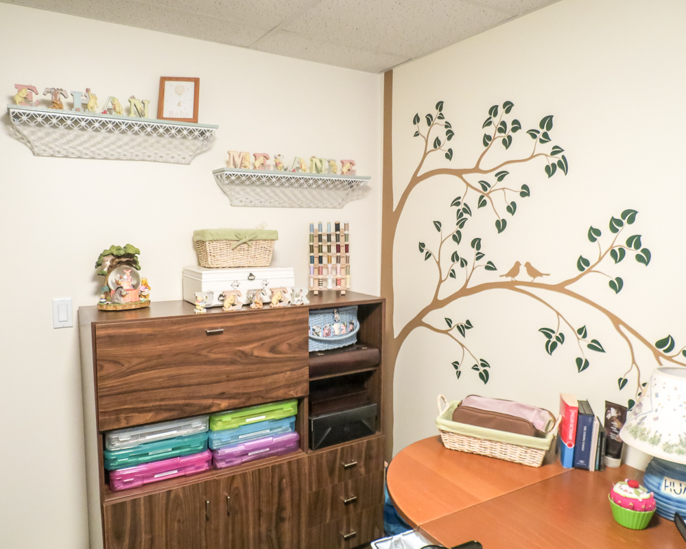Creative Scrapbooker Magazine's Where You Create / One Hundred Acre Woods themed room