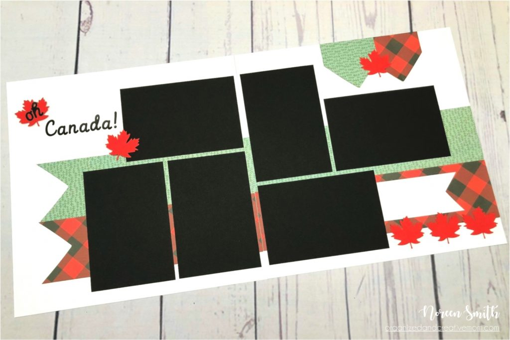 Sketch Designed by Noreen Smith | Layout features Creative Memories Oh Canada Collection