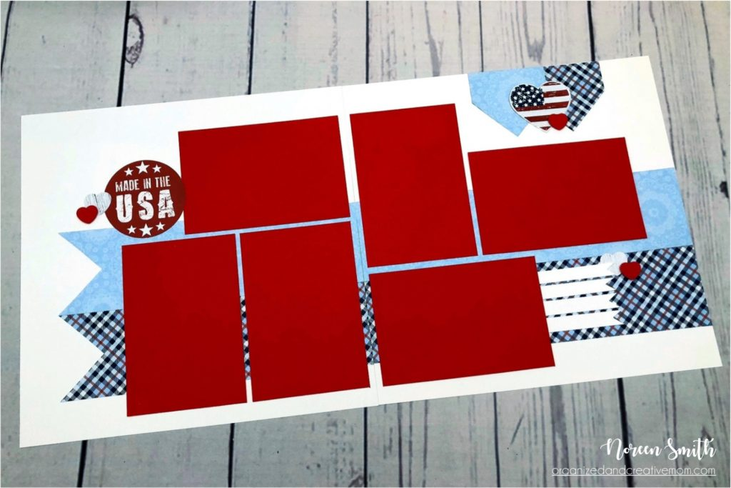 Sketch Designed by Noreen Smith | Layout features Creative Memories Star Spangled Collection