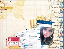 Layout designed by Christy Riopel featuring Text Talk | Creative Scrapbooker Magazine