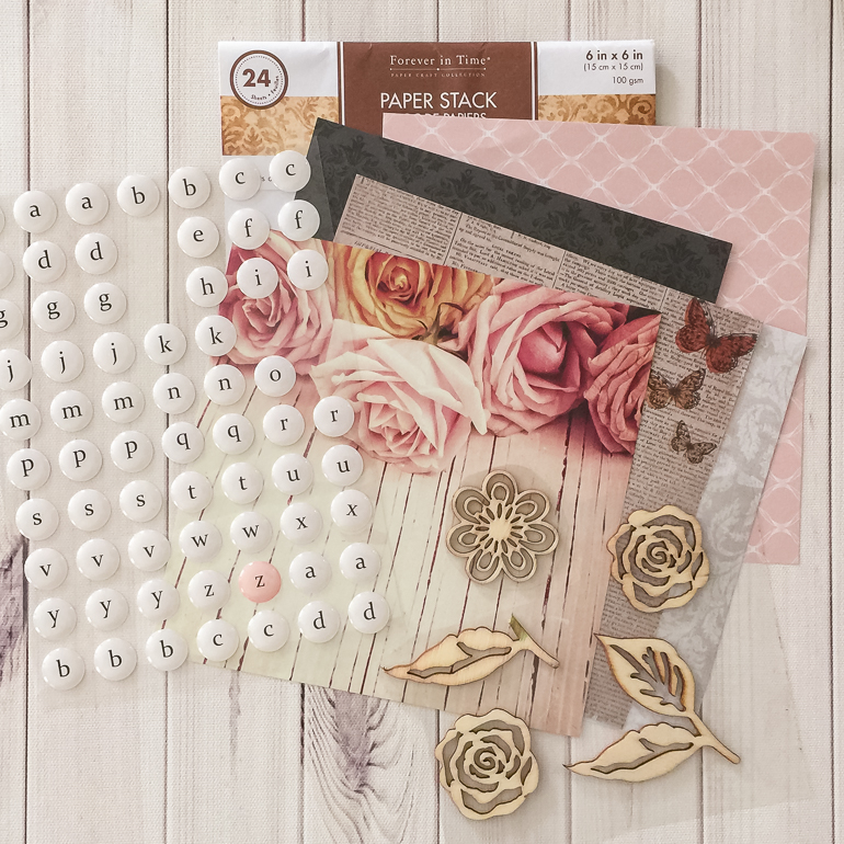 MultiCraft Forever in Time products / MultiCraft scrapbooking paper and embellishments