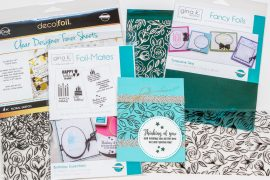 Thinking of You card / Cardmaking with Thermoweb foils / Gina K Designer Toner Sheets, Foil Mates and foil