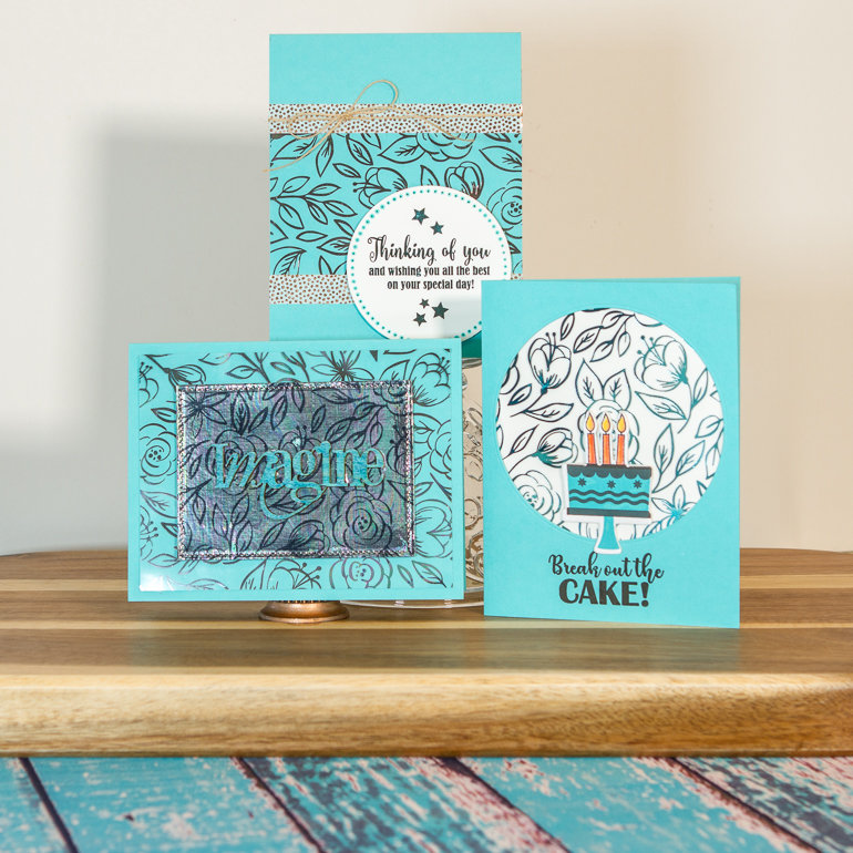 Cardmaking using Thermoweb / Gina K by Thermoweb / Add some shimmer to your next project