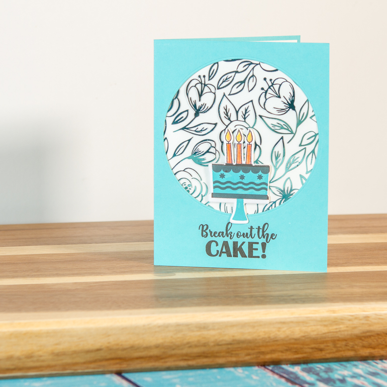 Birthday card by Kim Gowdy / Thermoweb and Gina K / Add the shimmer of foil to your projects