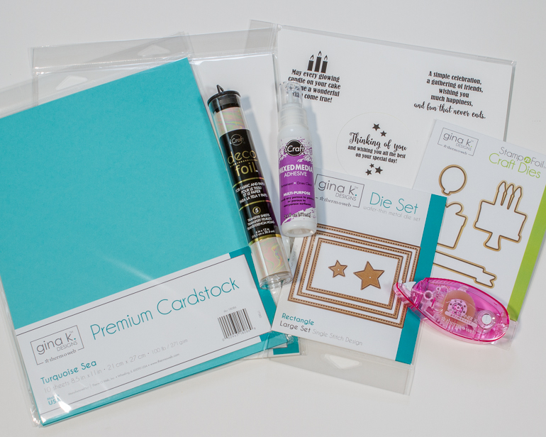 Thermoweb supplies / cardstock, adhesives, Gina K dies and foil mates