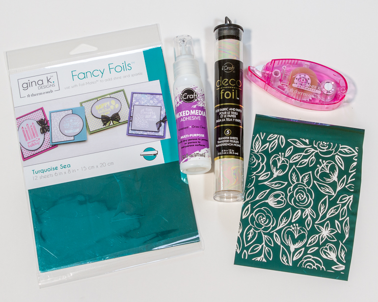 Theromweb foils and adhesives / Gina K foils and toner sheets / Cardmaking and foil with Kim Gowdy