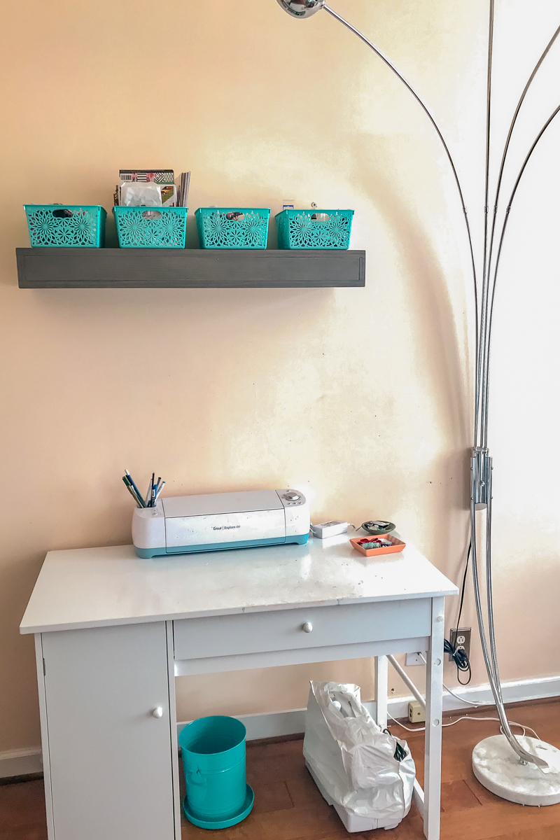 Creative Scrapbooker Magazine's Where You Create / Cricut work space / scrapbooking room