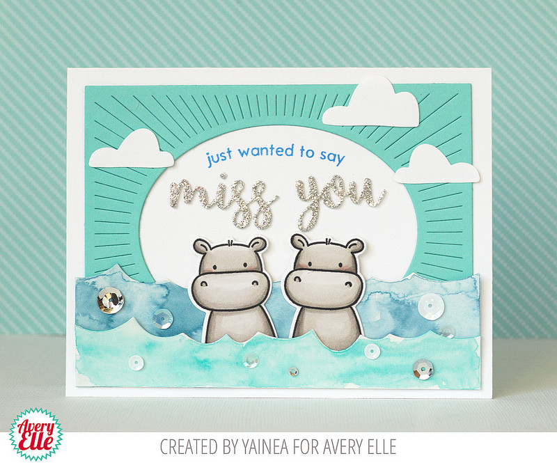 Card Designed by Yainea featuring Avery Elle | Creative Scrapbooker Magazine