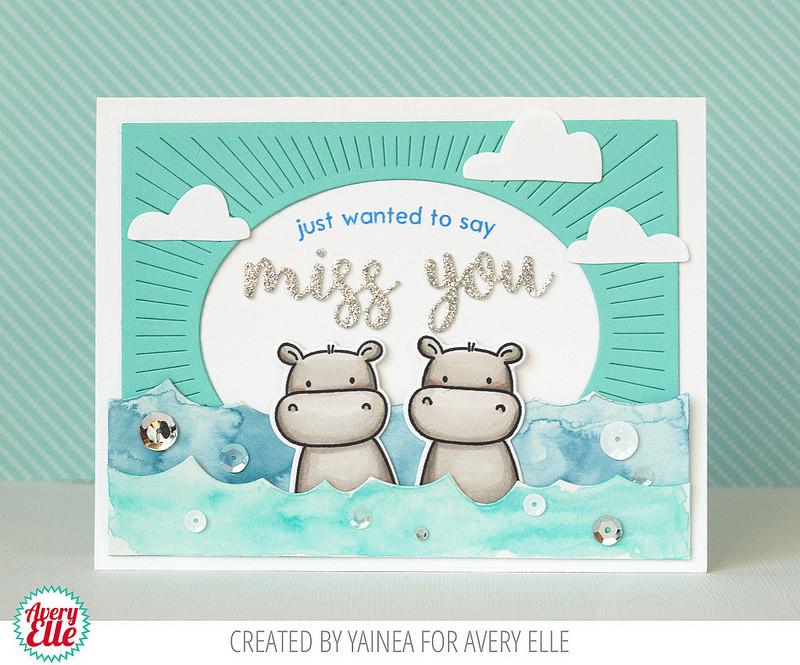 Card Designed by Yainea featuring Avery Elle | Creative Scrapbooker Magazine