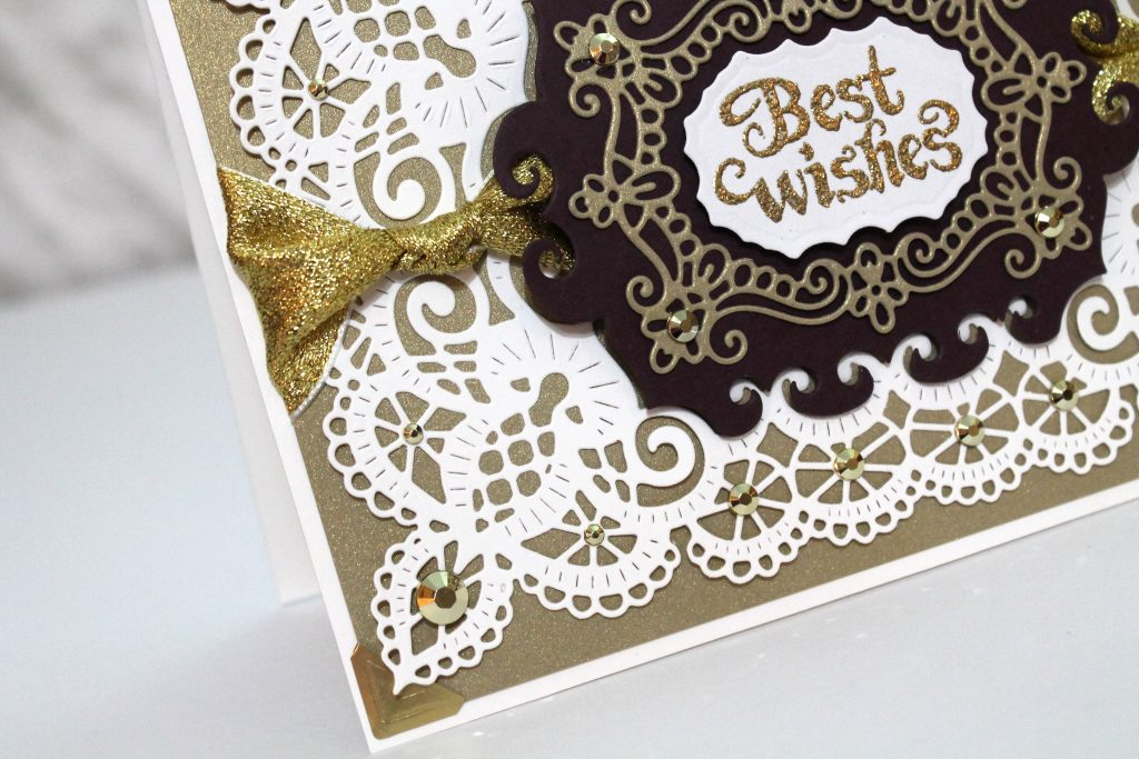 Best Wishes card designed by Tracy McLennon featuring Heartfelt Creations | Creative Scrapbooker Magazine