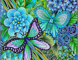 Betty Hung Coloring Card | Creative Scrapbooker