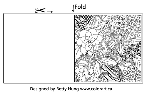 Betty Hung July Free Coloring Card | Creative Scrapbooker Magazine