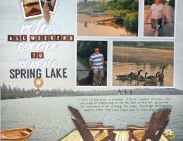 Scrapbook Layout Designed by Kerry Engel Featuring Paper House Productions Lake Life Collection - Creative Scrapbooker Magazine