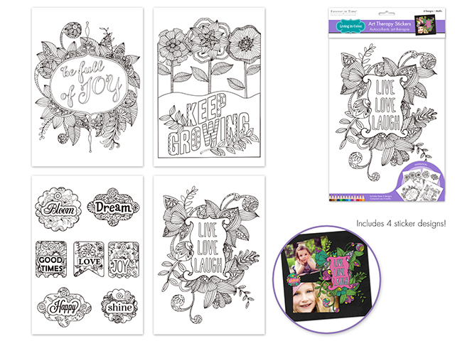 MultiCraft Art Therapy Stickers | Creative Scrapbooker Magazine