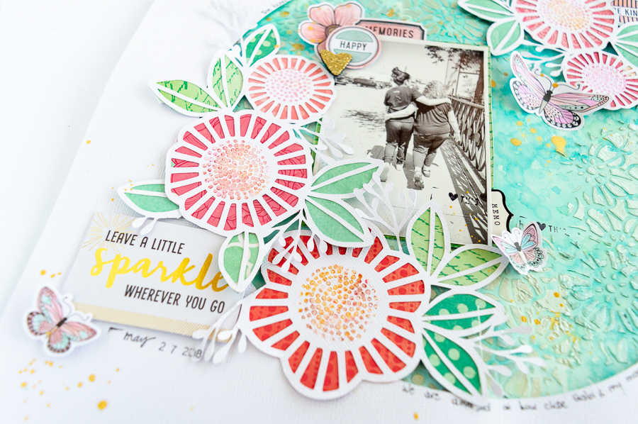 Layout designed by Nathalie DeSousa featuring Vicki Boutin for American Craft Supplies | Creative Scrapbooker Magazine