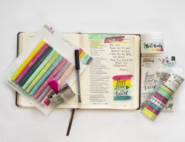 Allison Orthner Bible Art journaling featuring American Crafts