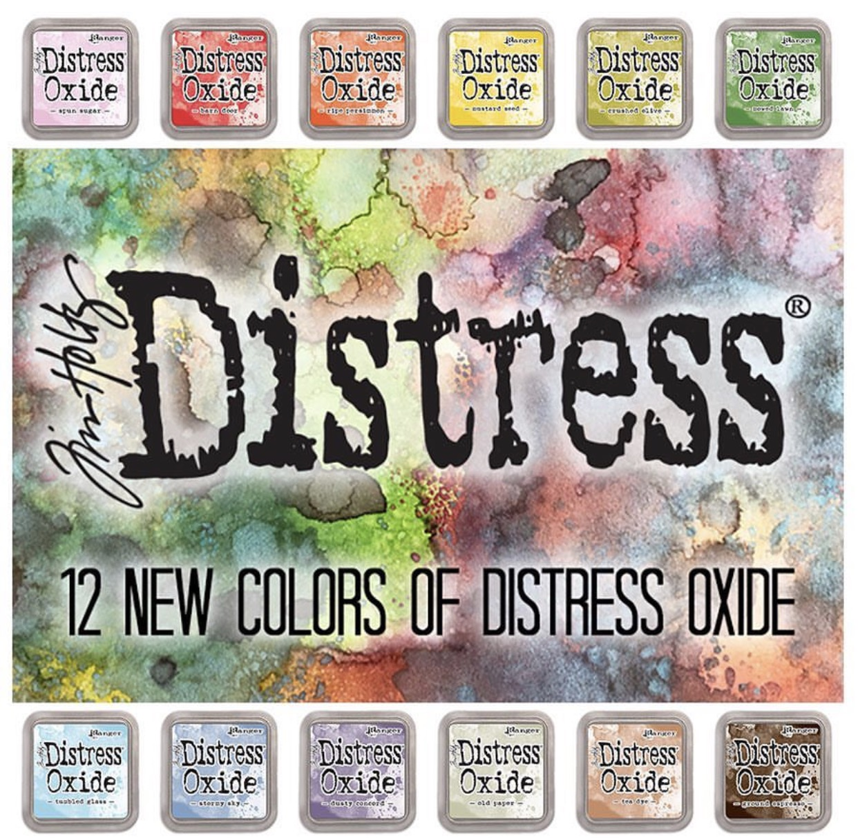 Tim Holtz 12 New Distress Oxide Inks by Ranger | Giveaway | Creative Scrapbooker Magazine