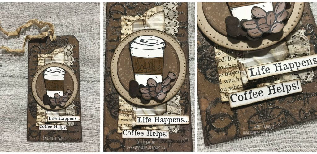 Coffee Tag Designed by Katelyn Grosart | Creative Scrapbooker Magazine