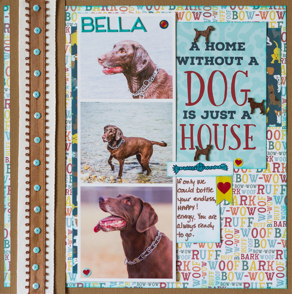 Scrapbook your Dog with Echo Park's Dog Collection / Twist and Turn your sketches