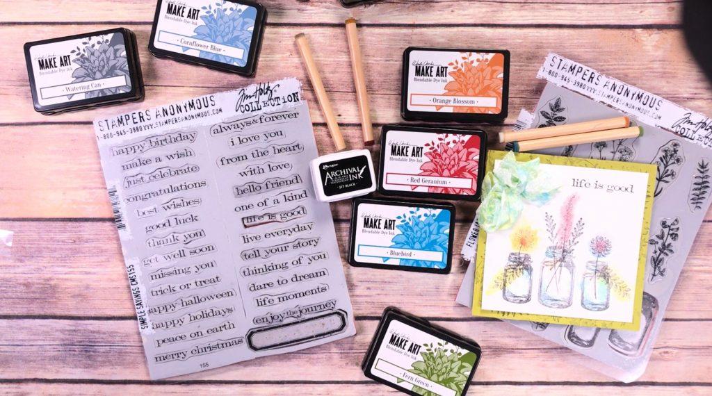 Card Making featuring Wendy Vecchi Make Art Blendable Dye Ink | Creative Scrapbooker Magazine