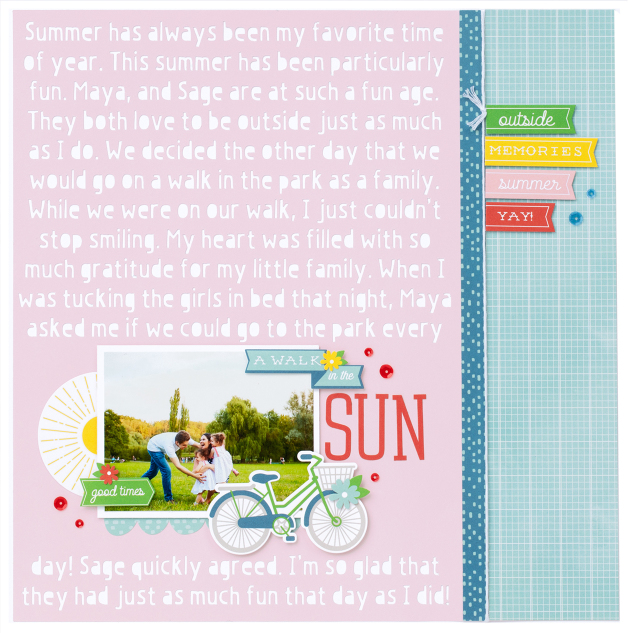 Scrapbook layout featuring the Cricut Design Space by Close To My Heart | Creative Scrapbooker Magazine