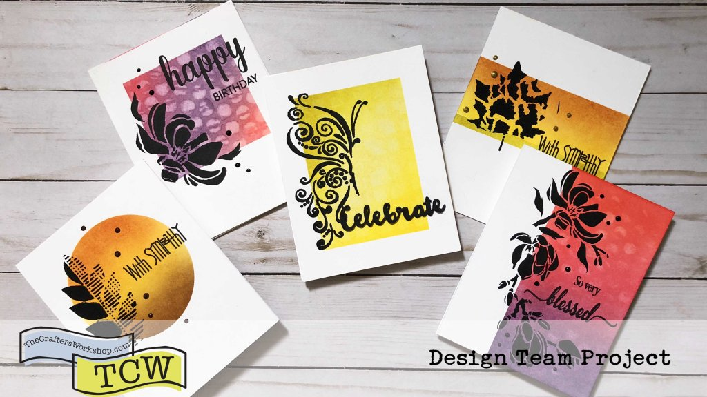 Silhouette Stenciling featuring The Crafter's Workshop | Creative Scrapbooker Magazine