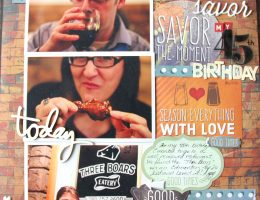 Delish Layout Designed by Jayme Loge featuring Paper House Productions | Creative Scrapbooker Magazine