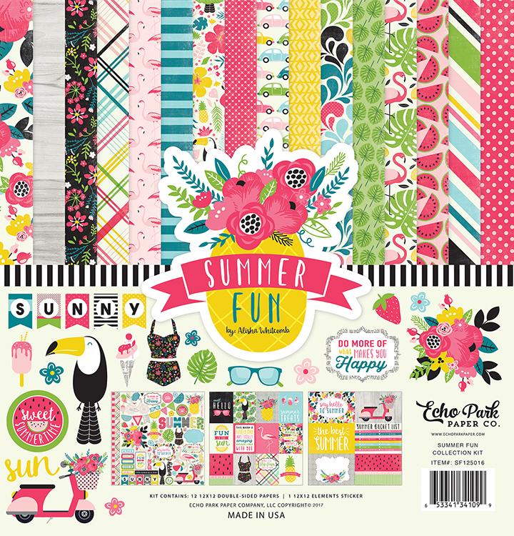 Echo Park Patterned Paper - Summer Fun | Creative Scrapbooker Magazine