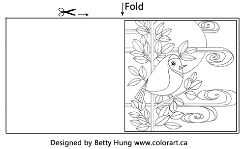 Free Coloring Card Designed by Betty Hung | Creative Scrapbooker Magazine