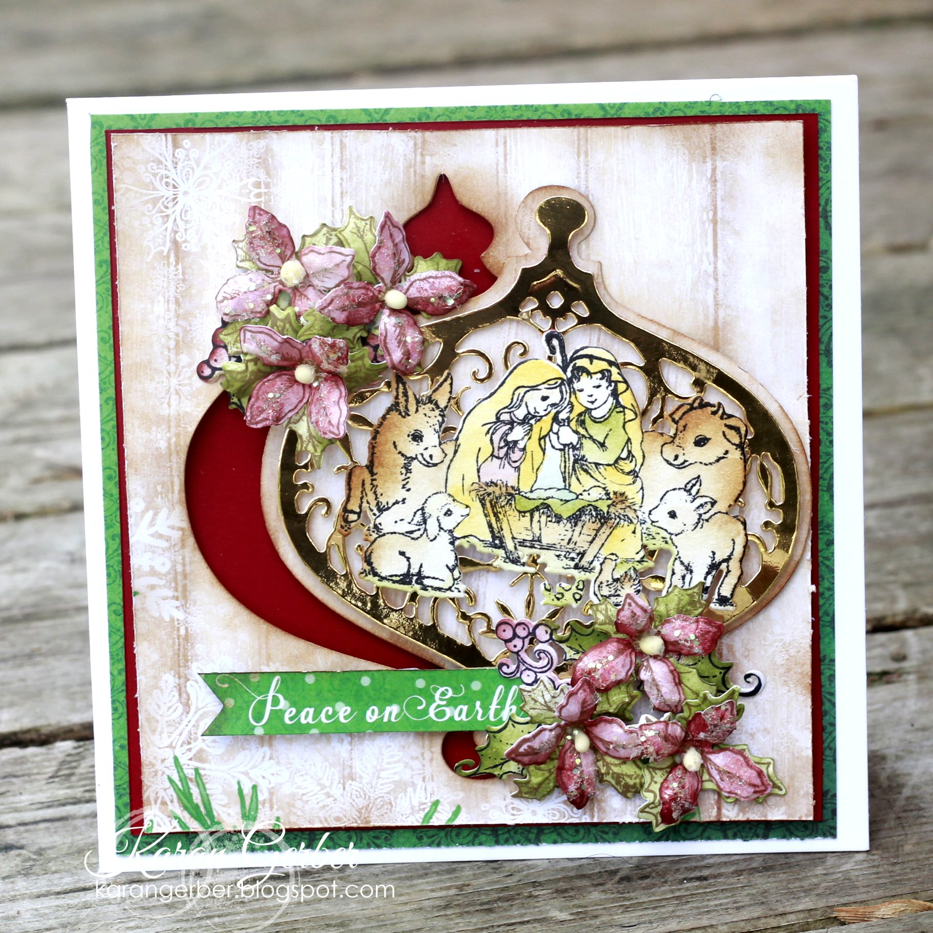 Christmas Card designed by Karan Gerber featuring Heartfelt Creations | Creative Scrapbooker Magazine