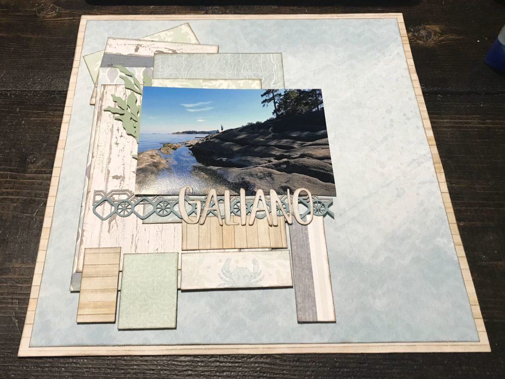 Scrapbook Layout featuring the Maritime Collection by Creative Memories designed by Katelyn Grosart | Creative Scrapbooker Magazine
