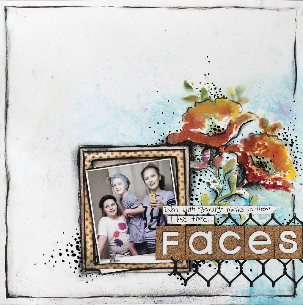 Scrapbook Layout Designed by Christy Riopel featuring Magenta Nuance Powders | Creative Scrapbooker Magazine